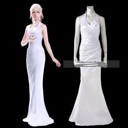 Wholesale fantasy sexy dress for sale - Group buy Lunafreya Nox Fleuret Dress Final Fantasy XV Costume Cosplay Sexy Costume White Fancy Dress Halloween Girl Customize