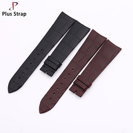 Discount bamboo skin - Plus Strap Real Crocodile Leather Elbow Strap Watchband Alligator Skin Bamboo Pattern 20mm Men Replacement Wristband