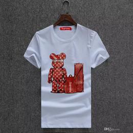 Sales Designer Clothes Canada - free shipping hot sales cotton New 2018 Mens Summer Tees Plus Size Shirt Short Sleeve t shirt Printed Cotton T-shirt Men Designer Clothing