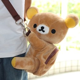 rilakkuma gifts 2019 - Free Shipping Rilakkuma plush bag kawaii messenger bag cartoon for Christmas Gift cheap rilakkuma gifts