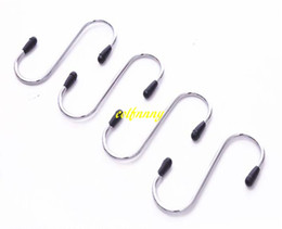 3-inch Long Bathroom Fixtures Wholesales Item 2-pack Heavy-duty S Shaped Hooks Hammock S Hooks Utility Hooks