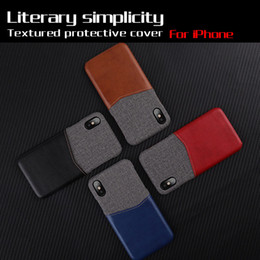 Pocket Protector Wholesale NZ - 2018 tide style literary fabric holster can be inserted into the card protector For iPhone X 6 6s 7 8 Plus Case