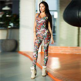 $enCountryForm.capitalKeyWord NZ - Wholesale Free Shipping Women fashion sexy colorful printed sportwear sleeveless pattern jumpsuit yoga sets Size S-L
