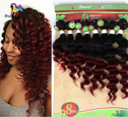 Wholesale Brazilian kinky curly hair weaves per pack for full hair ombre color HUMAN weaves loose wave deep curly weave bundles