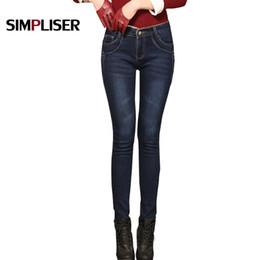 791f6bd85a916 SIMPLISER Velvet Warm Jeans Trousers Women 2018 Winter Plus Size 34 33  Ladies Stretch Pencil Pants Female Slim Jeans Leggings