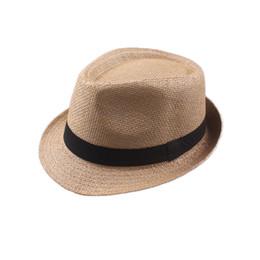 b4984a4987d Yellow Fedora Hat UK - Vogue Men Women Cotton Linen Straw Hats Soft Fedora  Panama Hats