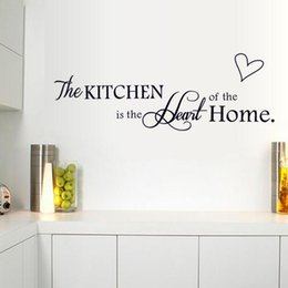 online shopping New Kitchen Is Heart Of The Home Letter Pattern Wall Sticker PVC Removable Home Decor DIY Wall Art