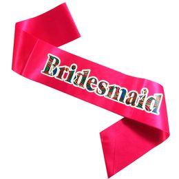 $enCountryForm.capitalKeyWord UK - 6pcs 2018 New design sash hot pink ribbon Fashion Zebra printing with letters bride to be sister of the bride etc bachelorette