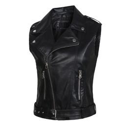 giubbotti in pelle moda donna 2018 PU giubbotto in pelle modelli di cintura invernale gilet moto sottile tuta sportiva Gilet giacca in magazzino in Offerta