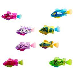 $enCountryForm.capitalKeyWord UK - Colorful Light Electric Swimming Pet Fish Boy Bath Pet Toys Aquarium Decor Magic Clown Fish Run Swaying