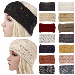 Winter accessories for Women online shopping - Multi Colorful Knitted Crochet Women Headband Winter Ear Warmer Elastic Hair Band for Women Wide Hair Accessories KKA5718