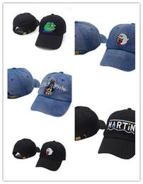Nuevo Diseño de la Marca de Moda Caliente Denim negro apenado Boo Mario  Fantasma papá hip hop gorra de béisbol sombreros para hombres 13b438de4ae