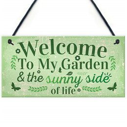 Outdoor Sheds NZ - Welcome To My Garden Plaque Outdoor Shed Summer House Plastic Sign Novelty Chic Decor Friendship Gift