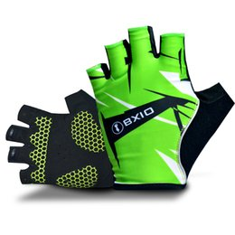 Wholesale BXIO Brand Unisex Half Finger Cycling Gloves High Elastic Lycra Terry Cloth PadGuantes Ciclismo Cool Bicycle Gloves Sport Gloves BX ST031