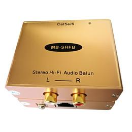 Cat5 Analog RCA AV Audio Isolator Extender Up to 1KM Hum Killer Hi-Fi Audio Extender on Sale
