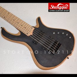 $enCountryForm.capitalKeyWord Australia - SHENGQUE MAYONES Electric Bass Guitar 6 string with EQ Flame maple top Ash body maple fingerboard musical instrument shop