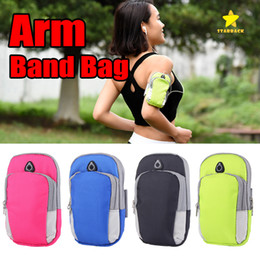 waterproof cases for cell phones Australia - Universal Cell Phones Arm Bag Band 5.5 inch Sports Running Armband Bag Case Waterproof Armband Holder Pounch for iPhone6 7 8 Plus