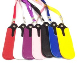 Ego T Bags Australia - ego PU bag Leather Pouch ego t portable carrying bag necklace lanyard for e cigarette evod ego battery various colors