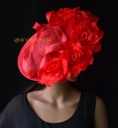 Shop silk flowers for hats uk silk flowers for hats free delivery red large silk flower fascinator hat formal hat for wedding mothers day derby mightylinksfo