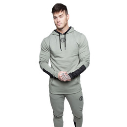 $enCountryForm.capitalKeyWord Australia - 2018 NEW Autumn winter Men Sport Clothing Set Running Gym Tracksuit Fitness Body building Mens Hoodies+Pants Sport Suit Men