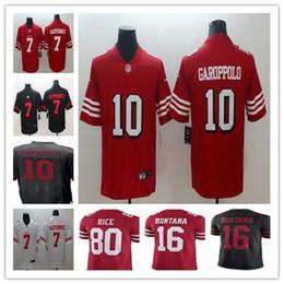 San Francisco 49ers man 10 Jimmy Garoppolo 25 Richard Sherman 69 Mike  McGlinchey 80 Jerry Rice 56 Reuben Foster 7 Colin Kaepernick jerseys f33aa23be