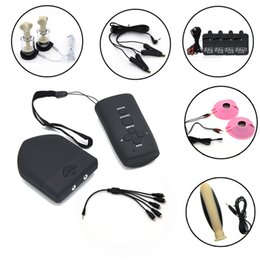 $enCountryForm.capitalKeyWord Australia - Wireless Remote Control Therapy Electric Shock Anal Plug Nipple Clamps Sucker Nipple Pads Massager Pads Sex Toys Sex Shop