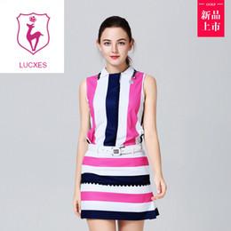 $enCountryForm.capitalKeyWord NZ - lucxes one piece dress golf shirt with skirt lady outdoor sportswear golf apparel sleeveless breathable sports dress slim 107