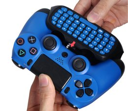 $enCountryForm.capitalKeyWord NZ - hot selling New Blue Mini 2.4G Wireless Bluetooth Keyboard Keypad Chatpad for PlayStation 4 PS4 Slim and For PS4 Pro Game Controller Gamepad