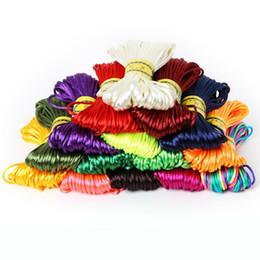 Silk Nylon Satin NZ - 20 Meters 2MM Soft Satin Rattail Silk Macrame Cord Nylon Kumihimo Shamballa For DIY Chinese Knot Tool Hand Stitching Threads