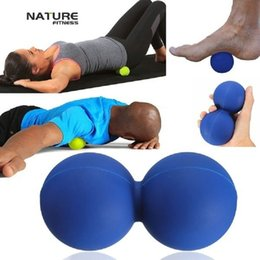 Wholesale Nature Fitness Peanut Massage Ball Mobility Peanut Ball Lacrosse Muscle Roller