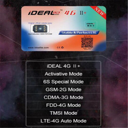 Wholesale GSM G Unlock Sim Card for iPhone S Plus LTE iOS Plug and Play