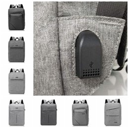 Travel lapTop charger online shopping - USB Oxford Backpack Student Double Shoulder Bag Leisure Computer Bag With USB Charger Laptop Travel Backpack Outdoor Bags LJJO5305