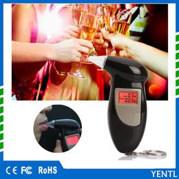 YENTL Spedizione Gratuita auto Polizia Alcohol Tester Display retroilluminazione Alcohol Breath Analyzer Digital Etilometro con 5 boccaglio Trasporto di Goccia in Offerta