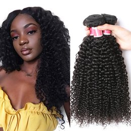 Wholesale Perstar Afro Kinky Curly Hair pc Natural Color inch Peruvian Hair Weave Bundles Non Remy Human Hair Nature Color