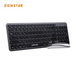 wireless for laptop 2018 - Zienstar AZERTY French Letter 2.4G Wireless Keyboard Mouse Combo with USB Receiver for Macbook,Computer PC,Laptop and TV