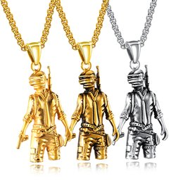 soldier women costume 2019 - Stainless Steel Soldier Pendant Necklace Women Men Masquerade Fancy Dress Party Costume Jewelry Fashion Accessories Gift