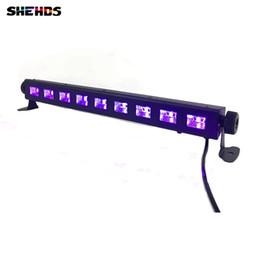 $enCountryForm.capitalKeyWord NZ - 4pcs lot Violet LED Wall Washer Lamp Purple LED Bar 9x3W UV Party Disco Club Light For Landscape Wash Wall Stage Lighting Effect Lights
