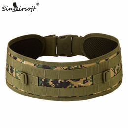 Sinairsoft Tactical Outdoor Multifunction Tactics Girdle Waist Bag EDC Molle Equipment Belt Bag Men Small Army Bag Holder Wide Belts on Sale