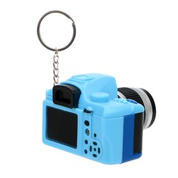 flashing keyrings UK - Key Chain Auto Accessories Flash Light & Buzzle Car Styling Gift Car Ornament Mini Camera Keyring Funny Toy