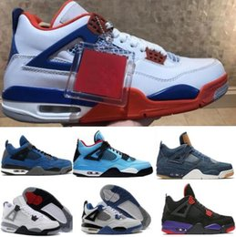 395d5e5916ad Top 4 4s Basketball Shoes Sneakers Chaussures Men Womens Red Cactus Jack  Alternate Eminem Cement Kaws Bred Denim Travis IV 2018 Sport Shoes