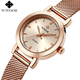 2a2b86acb6b Brand Luxury Rose Gold Women Watches Ladies Quartz Analog Clock Girl Casual  Watch Women Steel Bracelet Wrist Watch Montre FemmeY1883105