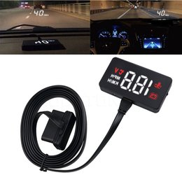 Discount head hud - Car HUD Head Up Display OBD2 II EUOBD Overspeed Warning System Projector Windshield Auto Electronic Voltage Alarm Car Co
