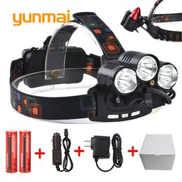 $enCountryForm.capitalKeyWord UK - 8000Lumen UV Red Laster+XM-L T6+2Q5 LED Headlamp Headlight Fishing Hunting Head Light Lamp+2*18650 Batteries+Charger+Car Charger