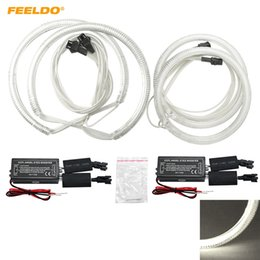 focus drl led NZ - FEELDO 4pcs Set Special Car CCFL Halo Rings Angel Eyes LED Headlights for Ford Focus 08+ DRL #3086