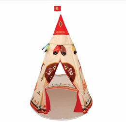 kids safety games 2018 - Natural Indian Pattern Children Toys Tent Teepees Safety Tipi Portable Indoor Game Tents Outdoor Tente Enfant Playhouse
