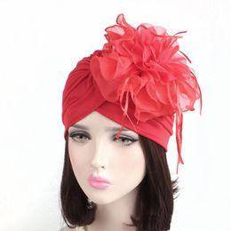 757089d8993083 Fascinators Hats Damen Rüschen Turban Headwear mit großer Popeline Blume  Cocktail Hochzeit Tea Party Hut Indian Turban Hats turbante