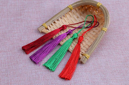 Discount tassel chinese - Chinese style curtain tassels about 13 cm bookmarks clothing candy box tassel accessories DIY small tassel free sipping