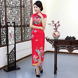 $enCountryForm.capitalKeyWord Australia - Long Cheongsam Traditional Chinese Wedding Dress Red Qipao Casual Dresses Evening Gown China Bride Traditions Women Phoenix