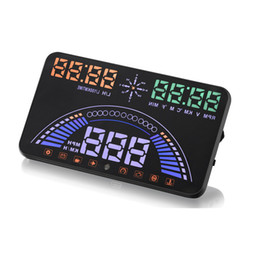 "$enCountryForm.capitalKeyWord UK - Latest 5.8"" Car HUD Head Up Display OBD2+GPS Two Systems Over Speed Alarm Dash Board Digital Speedometer with OBDII interface"