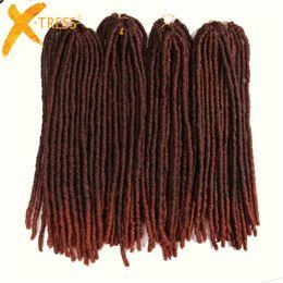 Discount hair tress - X-TRESS 20Strands 20'' Soft Dreadlocks Crochet Braids Kanekalon Jumbo Dread Hairstyle Ombre Synthetic Braiding